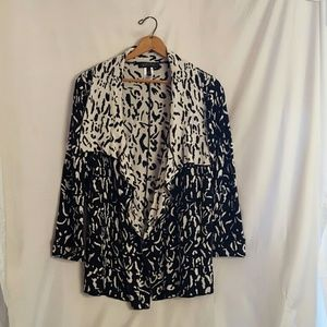 Kasper black and white animal print sweater